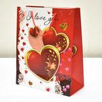 арт. 1361-4L Пакет для подарков Пламенные чувства 26*32*12 см. Оптовая цена 40 руб.