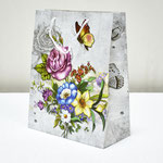 арт. 1354-3L Пакет для подарков Букет нежность 26*32*13 см. Оптовая цена 40 руб.
