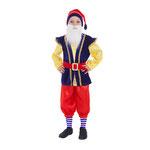 Карнавальный костюм Гномик, рост 110-116 см, размер 30, арт. 56129. Комплект: колпак, рубаха с жилетом, бриджи, борода, ремень, цвет синий. Цена 1160 руб.
