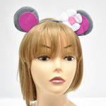 Ободок для новогоднего праздника Мышка с цветочком. Стоимость: 90 руб.