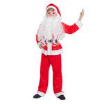 Детский карнавальный костюм Санта-Клаус, рост 110 - 116 см, размер 20, арт. 56442. Комплект: колпак, куртка, штаны, борода. Цена: 1275 руб.