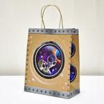 арт. 0396.092 Пакет для подарков крафт 3D Инопланетянин 26*32*12 см. Оптовая цена 49 руб.