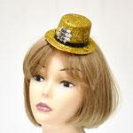 Шляпа для маскарада, пластик Мини HNY золотой блеск. Цена: 49 руб.