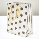 арт. BK985-D1 Пакет для подарков Золотые точки кремовый 23*18*10 см. Оптовая цена 45 руб.