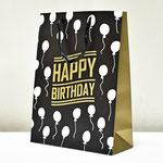 арт. SR067-C3 Пакет для подарков С Днём Рождения Воздушные шарики чёрный с блёстками 40*30*12 см. Оптовая цена 75 руб.
