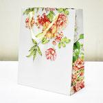 арт. ПП-0222 Пакет для подарков Красивые розовые цветы 26*32*12 см. Оптовая цена 65 руб.