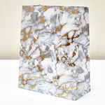 арт. BK1000-A2 Пакет для подарков Мрамор золото/серый 32*26*12 см. Оптовая цена 65 руб.