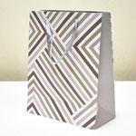 арт. BK1007-C2 Пакет для подарков Геометрия линий серебро 32*26*12 см. Оптовая цена 65 руб.