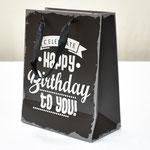 арт. WK-D-240S Пакет для подарков С Днём Рождения чёрный 23*18*10 см. Оптовая цена 35 руб.