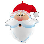 "Фольгированная фигура Grabo Голова Санта Клаус, размер 26"" #G72037. Цена 250 руб."