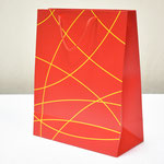 арт. 1411-2L Пакет для подарков Классика Красный с золотым тиснением 26*32*12 см. Оптовая цена 54 руб.
