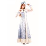 Карнавальный костюм Снегурочка, шёлк, размер 46, арт. 42349. Комплект: платье, пелерина, кокошник. Цена: 4205 руб.