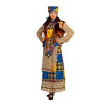Карнавальный костюм Баба Яга, рост 170 см, размер 46, арт. 42461. Комплект: блуза, кардиган, юбка, косынка с волосами. Цена: 3176 руб.