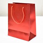 арт. 2233-2S Пакет для подарков Однотонный красный 18*23*10 см. Оптовая цена 52 руб.