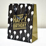 арт. SR067-C2 Пакет для подарков С Днём Рождения Воздушные шарики чёрный с блёстками 32*26*12 см. Оптовая цена 65 руб.