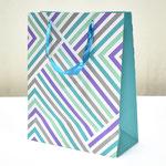 арт. BK1007-B2 Пакет для подарков Геометрия линий бирюзовый 32*26*12 см. Оптовая цена 65 руб.