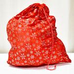 Мешок Деда Мороза Снежинки. Размер 50*70 см. Стоимость 227 руб.