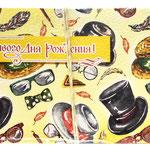1-30-0114 Конверты Счастливого дня рождения! Очки и шляпы, 10 шт. #61391