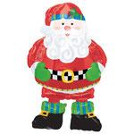 """Фольгированная фигура ходилка Anagram Санта в сапогах, размер 75"""" #8006. Цена 630 руб."""