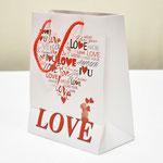арт. 397-M-WK-E Пакет для подарков LOVE 23*18*10 см. Оптовая цена 40 руб.