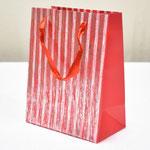 арт. BK980-A Пакет для подарков Полоски красный 23*18*10 см. Оптовая цена 45 руб.
