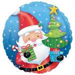 """Фольгированный шар Anagram Санта с ёлкой, размер 18"""" #27239. Цена 115 руб."""