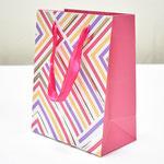 арт. BK1007-A1 Пакет для подарков Геометрия линий розовый 23*18*10 см. Оптовая цена 45 руб.