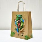 арт. 0396.091 Пакет для подарков крафт 3D Тираннозавр 26*32*12 см. Оптовая цена 49 руб.