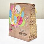 арт. SR068-A1 Пакет для подарков С Днём Рождения Воздушные шарики 23*18*10 см. Оптовая цена 45 руб.