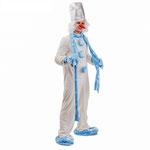 Карнавальный костюм Снеговик, текстиль, рост 182 см, размер 50, арт. 55899. Комплект:  комбинезон, шарф, тапочки, варежки, парик, шапка, нос. Цена 3750 руб.