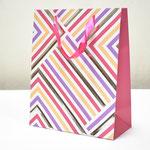 арт. BK1007-A2 Пакет для подарков Геометрия линий розовый 32*26*12 см. Оптовая цена 65 руб.