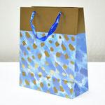 арт. BK998-C2 Пакет для подарков Золотые штрихи голубой 32*26*12 см. Оптовая цена 65 руб.
