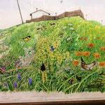 北のアルプ展示 絵本原画高橋清 日本をめぐる季節かわるけしき福音館