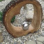 Kettensägenschnitzer, Holzskulpturen, Herz Hochzeit, Holzkunst , Holzstelen