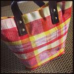 手織りトートバック red2 ¥12000