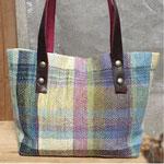 手織りトートバックM pink ¥10000