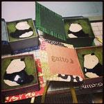 七宝熊猫ブローチ(オリジナル箱入り) ¥3000