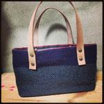 麻糸(atelier Bocco製)手織りバック グレー ¥13000