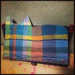 手織りクラッチバック猫B ¥6000