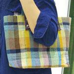 手織りトートバック tigir ¥12000