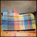 手織りクラッチバック猫A ¥6000