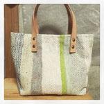 手織りトートバック 白 ¥12000