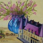 Le temps des vendanges (29 X 37 cm) 1993. Christine de Hédouville