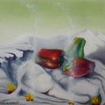 Le bonheur des pierres (52 X 46 cm) 1988. Christine de Hédouville