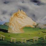 Le Cromlech (55 X 46 cm) 1975 Christine de Hédouville