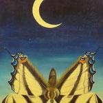 Les frasques de la lune (53 X 65 cm) 1992. Christine de Hédouville