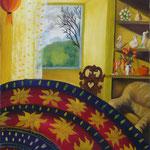 Ma salle à manger (55 X 46 cm) 2004. Christine de Hédouville