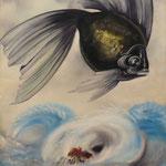 L'œil du Cyclone (57 X 40,5 cm) 1982. Christine de Hédouville