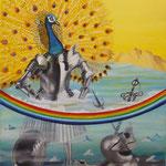 Résurrection ou la renaissance du soleil « Car c'est à vous qu'appartiennent le règne, la puissance et la gloire » (55 X 46 cm) 2001.