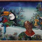 Le colloque des oiseaux, de Fariddoudine Attar (53 X 36,5 cm) 1976. Christine de Hédouville